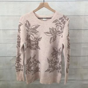 A New Day sweater, blush, silver & gold